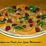 recette Tarte Légère aux fruits frais