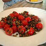 recette salade de lentilles et tomates