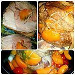 recette Rôti de porc farci aux abricots