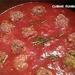 recette Petites boulettes de boeuf à la sauce tomate