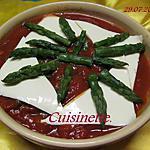 recette Quenelles natures aux asperges vertes gratinées.
