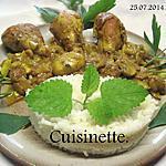 recette Pillons de poulet. champignons. sauce curcuma.