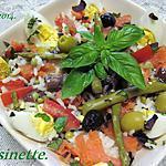 recette Riz variés aux légumes. et filets de truite.