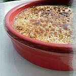 recette Crème brûlée à la crème de Haricot de Soissons aux Noix