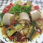 recette Boudin blanc aux légumes d'été.
