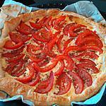recette Tarte à l'ail et tomates