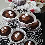 recette Cupcakes cacao coeur melon