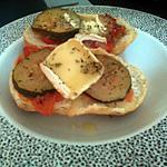 recette Tartines courgettes tomates et chèvre