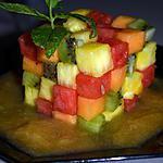 recette SALADE DE FRUITS COMME UN RUBIK CUBE