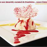 recette Dôme limoncello, caramel de framboise et amaretti