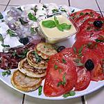 recette Salade de légumes. ricotta.basilic. vinaigrette.