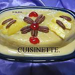 recette Gâteau aux brugnons à la crème. micro-ondes.