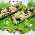 recette Petits pains au poisson. champignon gratinés.