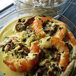 recette Sauce crevettes, tourteau, et champignons de Paris