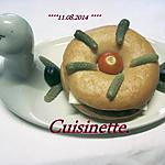 recette Bagels au chorizo. fromage fondu.