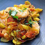 recette Tajine de crevettes au fenouil