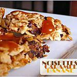 recette Flapjacks bananes / noisettes, sauce caramel
