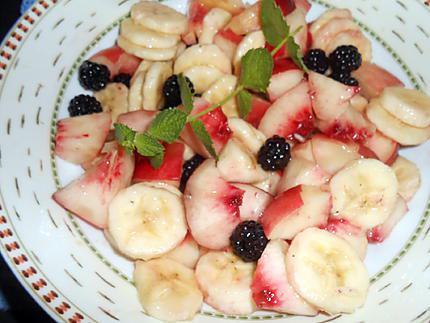 Fruits au maraschino et menthe sauvage 430