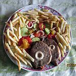 recette Longe de porc , salade d'été , pommes paille