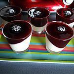 recette Panacotta à la vanille et son coulis de prunes rouges