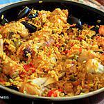 recette Paella au poulet