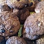 recette Cookies chocolat blanc/Cranberries