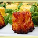 recette Cannelés Bacon, Comté, courgettes