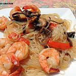 recette Vermicelles de soja aux champinons et crevettes