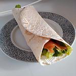 recette Wraps saumon & chèvre