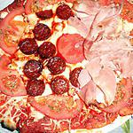 recette UN AUTRE DUO DE PIZZA CHORIZO JAMBON