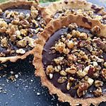 recette Tarte chocolat caramel et noix de pécan caramélisées