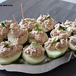 recette Canapés de concombre