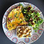 recette Omelette onctueuse garnie