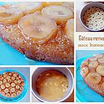 recette Gâteau renversé aux bananes