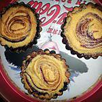 recette Amandine au coulis de prunes rouges