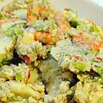 """recette Salade de pommes de terre aux crevettes et à l""""aneth"""