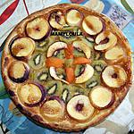 recette Tarte fine aux kiwis nectarines abricot et caramel beurre salé