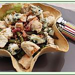 recette Salade tiède en corolle croustillante
