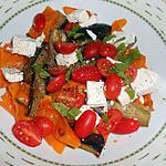 recette INSALATA DI MELANZANE E PEPERONI (Salade d'aubergines et poivrons grillés)