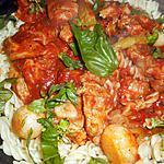 recette Poitrine de veau sauce tomate aux petits oignons