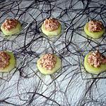 recette petites bouchées de concombre au thon-mayonnaise