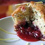 recette Minis muffins au citron, à la framboise et graines de pavot