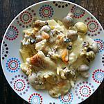 recette Blanquette de poisson aux fruits de mer