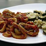 recette Blanc de seiche à l'ail et à la tomate