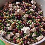 recette Salade aux haricots et petits pois