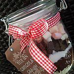 recette Bocaux de chocolat chaud au marshmallow *Cadeau gourmand*