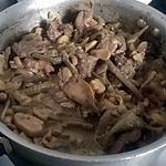 recette côtes de sanglier à la moutarde et haricots vert et champignons de paris