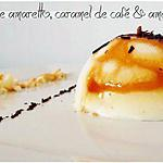 recette Mini-bombe glacée à l'amaretto, caramel de café & amaretti