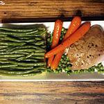 recette Cuisse de dinde marinée et légumes du potager