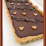 recette Tarte au chocolat  Carambar